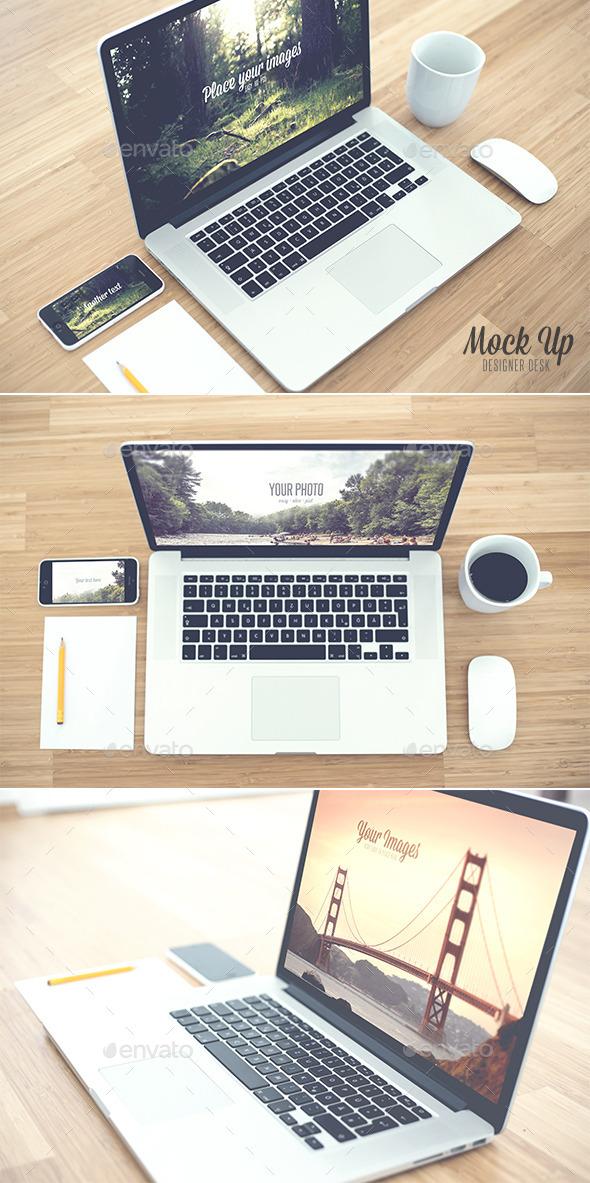 GraphicRiver Desk Realistic Mock Up 9209965