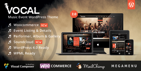 Vocal - Music Event WordPress Theme