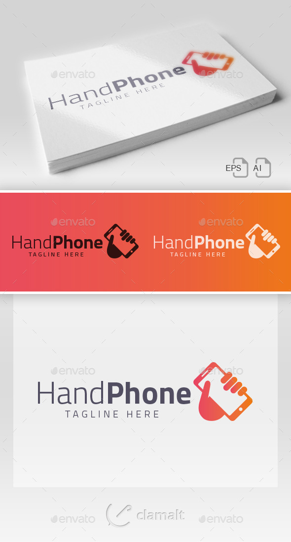 GraphicRiver Hand Phone Logo 9210333