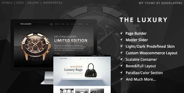 The Luxury - Dark/Light Responsive WordPress Theme - Fashion Retail