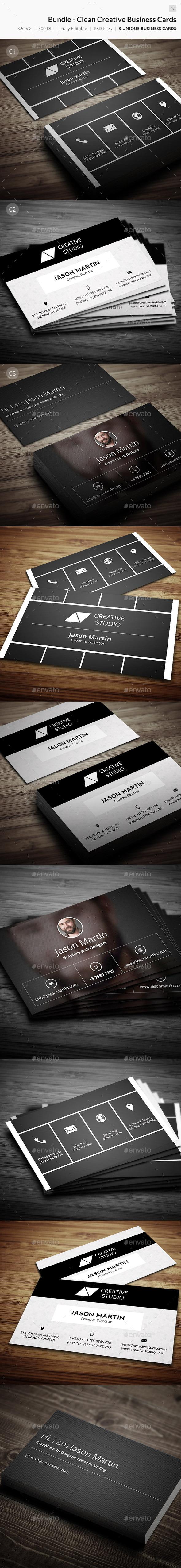Bundle Clean Creative Business Card 42