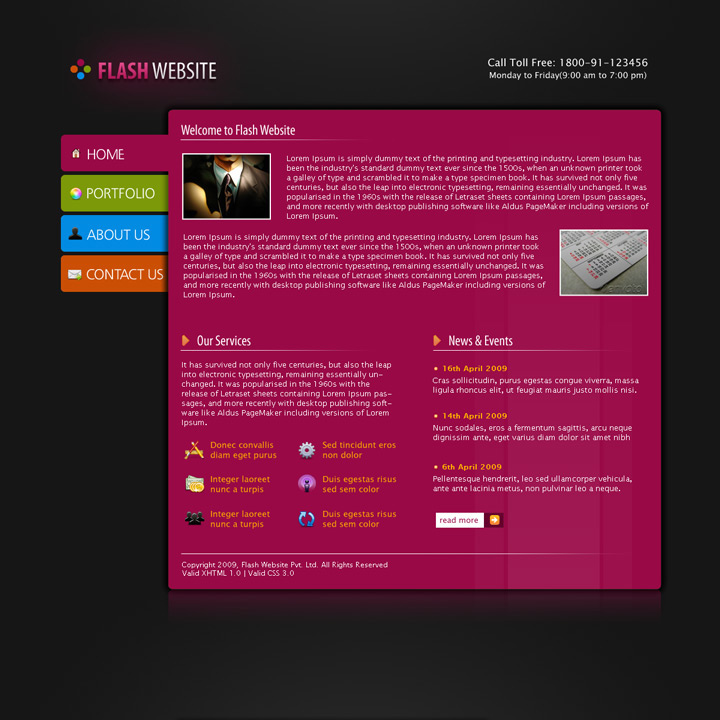 Flash Website Template