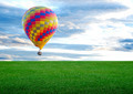 colorful hot air balloon with beautiful blue sky and cloud - PhotoDune Item for Sale