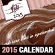 Vintage Cake 2015 Horizontal Calendar Template - GraphicRiver Item for Sale