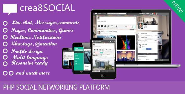 CodeCanyon crea8social PHP Social Networking Platform 9211270
