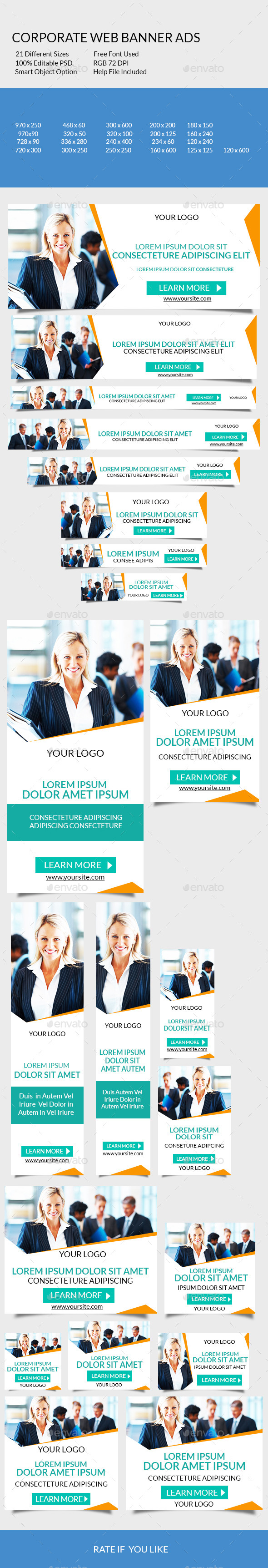 GraphicRiver Corporate Web Banner Ads 9211312