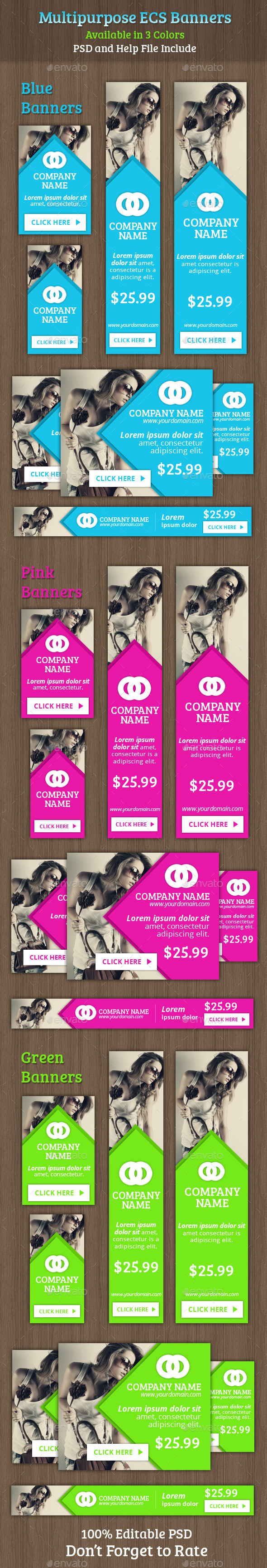 GraphicRiver Multipurpose ECS Banners 9185735