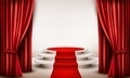 Background with curtains and red carpet leading to a podium.  - PhotoDune Item for Sale
