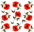 Pattern of beautiful red flowers. - PhotoDune Item for Sale