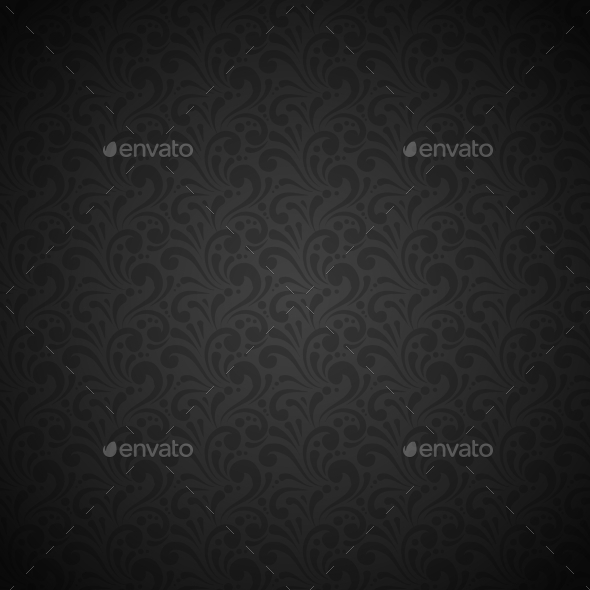 GraphicRiver Black Seamless Pattern 9211506