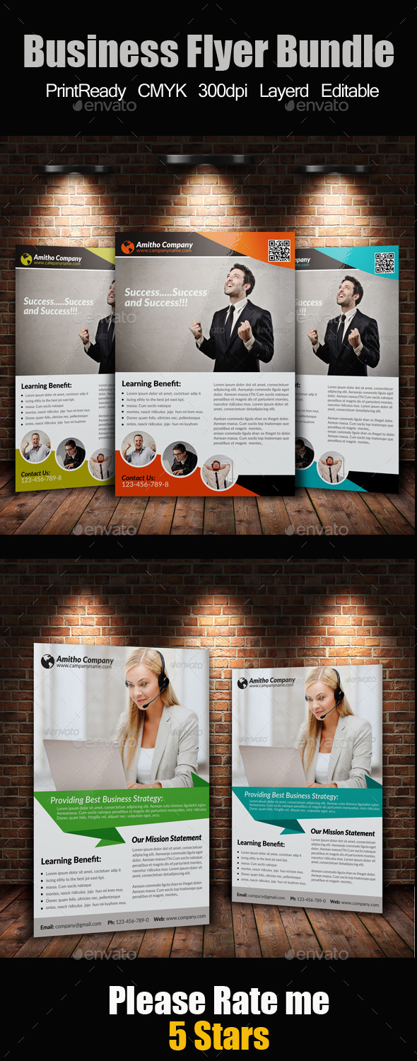 GraphicRiver A4 Business Flyer Bundle 9211626