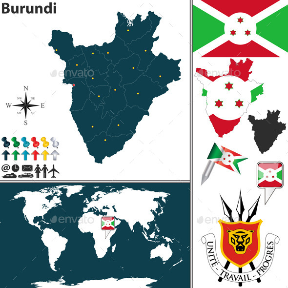 GraphicRiver Map of Burundi 9211634