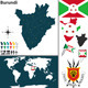 Map of Burundi - GraphicRiver Item for Sale