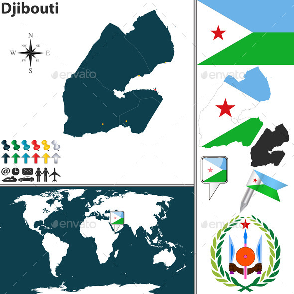 GraphicRiver Map of Djibouti 9211637