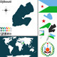 Map of Djibouti - GraphicRiver Item for Sale