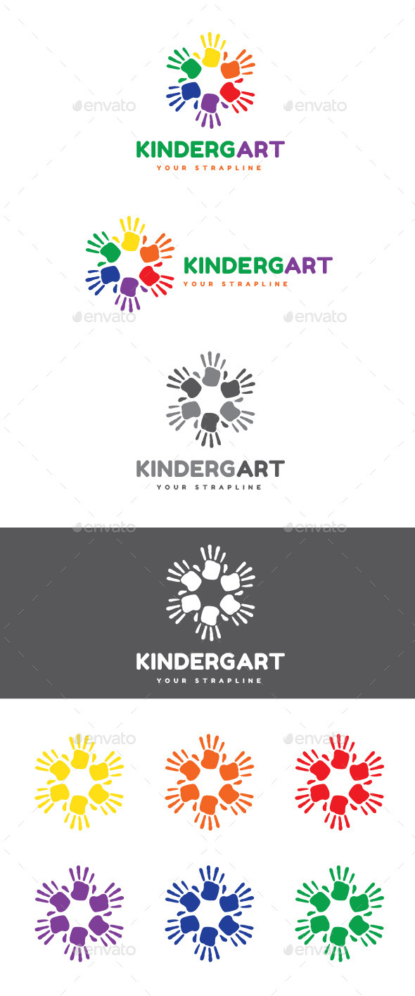 GraphicRiver Kindergart Logo 9211692