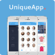 UniqueApp - Flat Mobile App UI Design