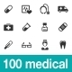 100 Medical Icons - GraphicRiver Item for Sale