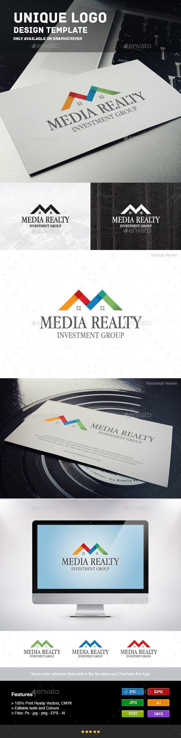 GraphicRiver Media Realty Logo 9211913