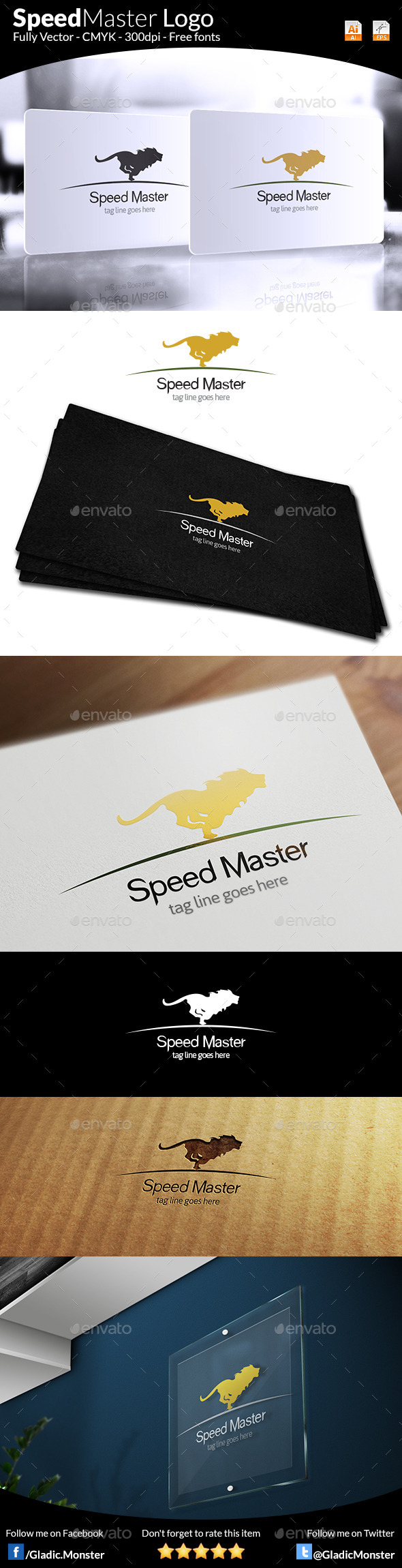 GraphicRiver Speed Master Logo 9212157