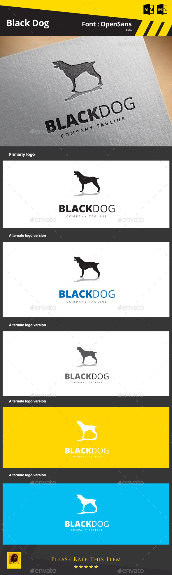 GraphicRiver Black Dog 9212577