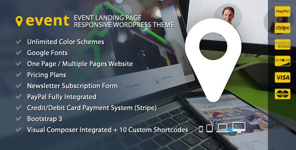 ThemeForest Event WordPress Landing Page Theme 9070515