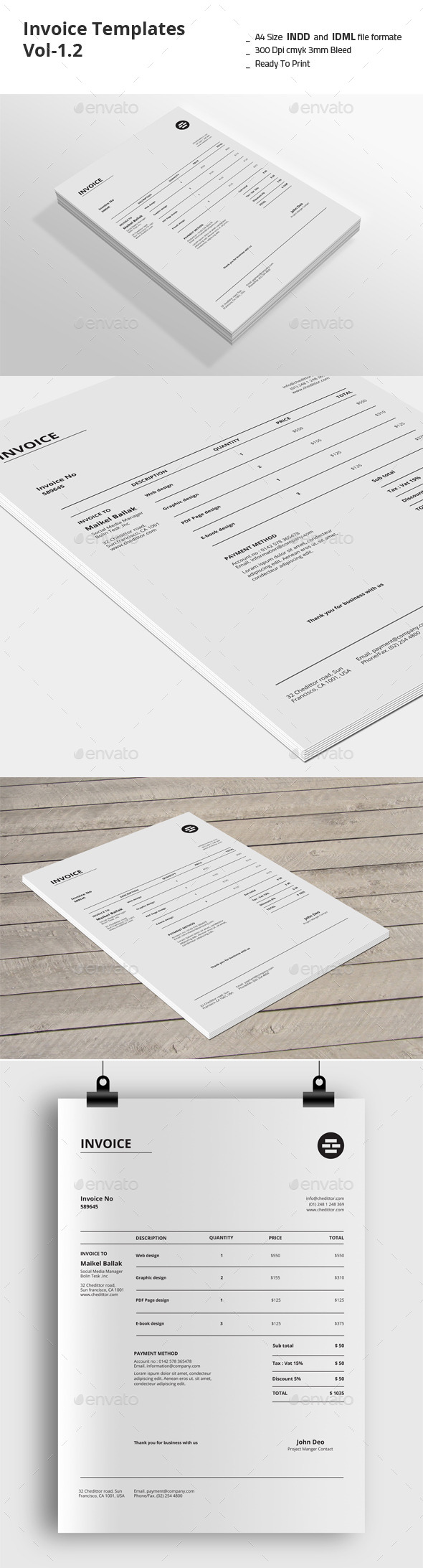 GraphicRiver Invoice Templates Vol-1.2 9212779