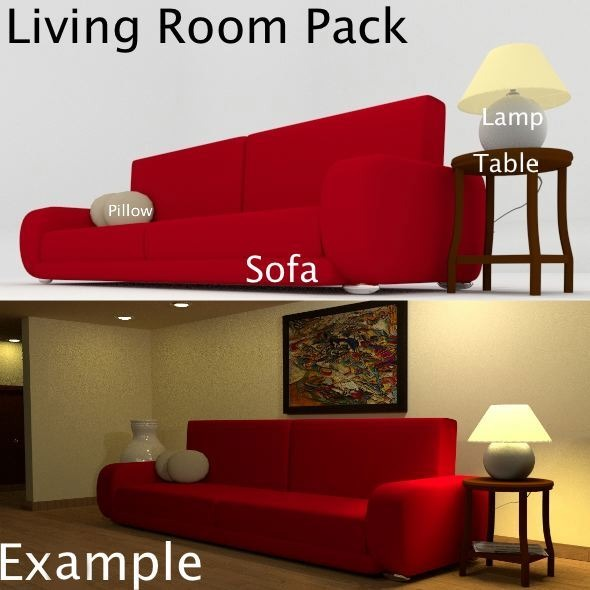 Living room pack  - 3DOcean Item for Sale