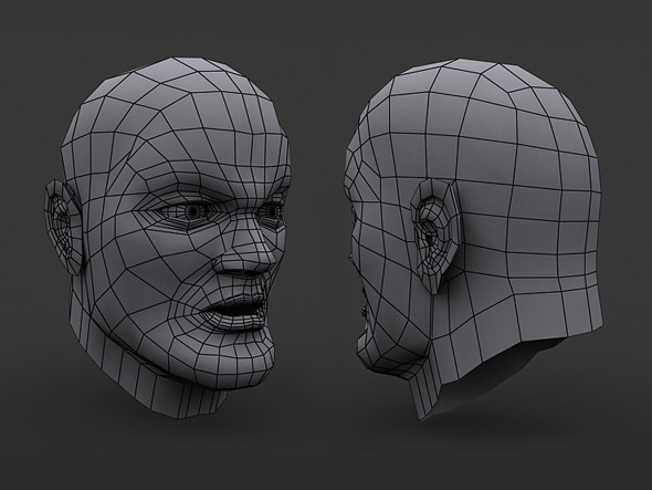 3DOcean Human Comic Male Head Base Mesh 9213235