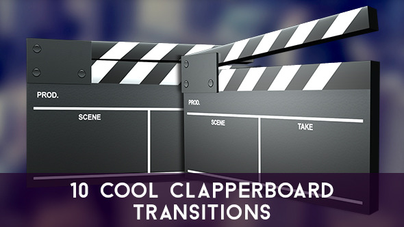 10 Cool Clapperboard Transitions