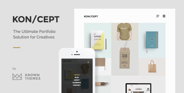 ThemeForest KON CEPT A Portfolio Theme for Creative People 9213287