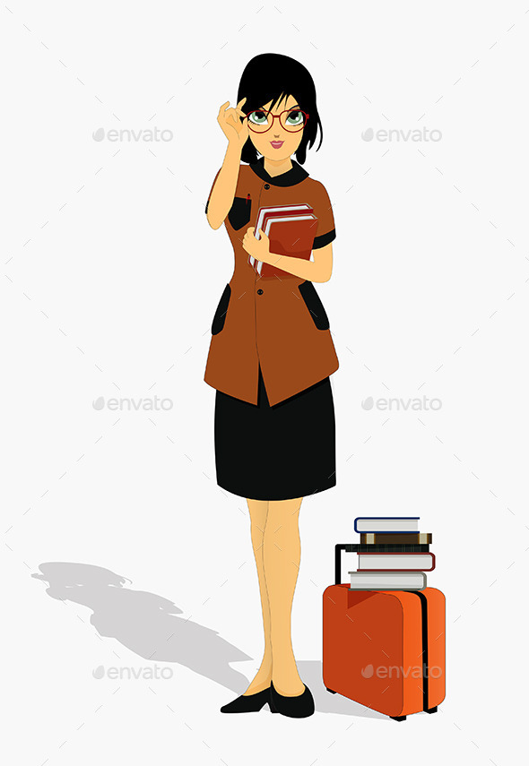 GraphicRiver Woman holding a Book 9213324
