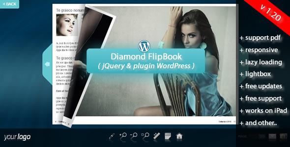 Diamond FlipBook jQuery&pluginWordPress - Screenshot 1