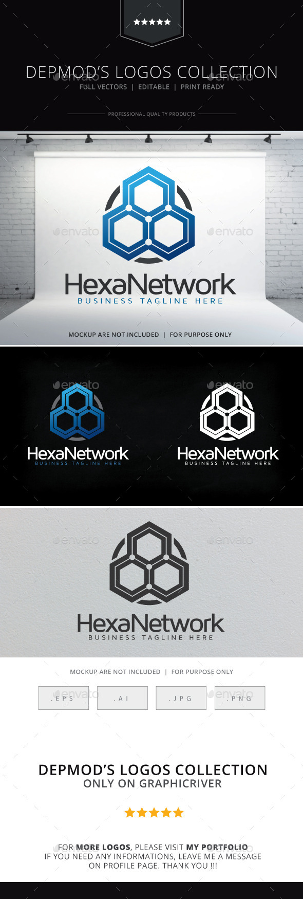 GraphicRiver Hexa Network Logo 9213433