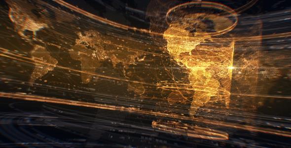 Golden Network Earth Map