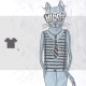 Hand Drawn Fashion Portrait Of Hipster Cat - GraphicRiver Item for Sale
