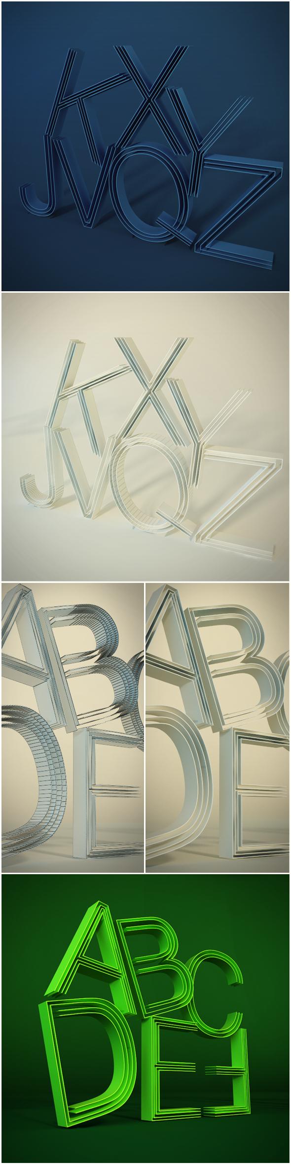 3DOcean 3D letters 9213489