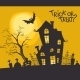 Halloween Monster House With Bat And Pumpkins - GraphicRiver Item for Sale