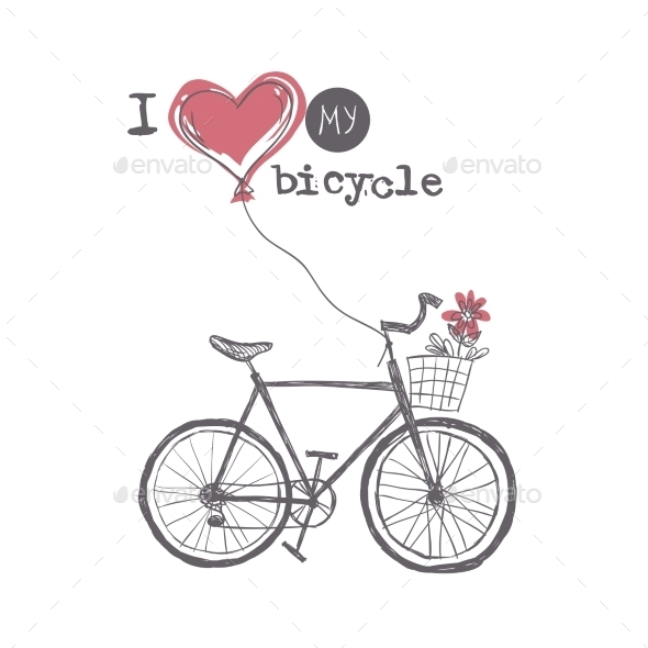 GraphicRiver I Love My Bicycle 9213556