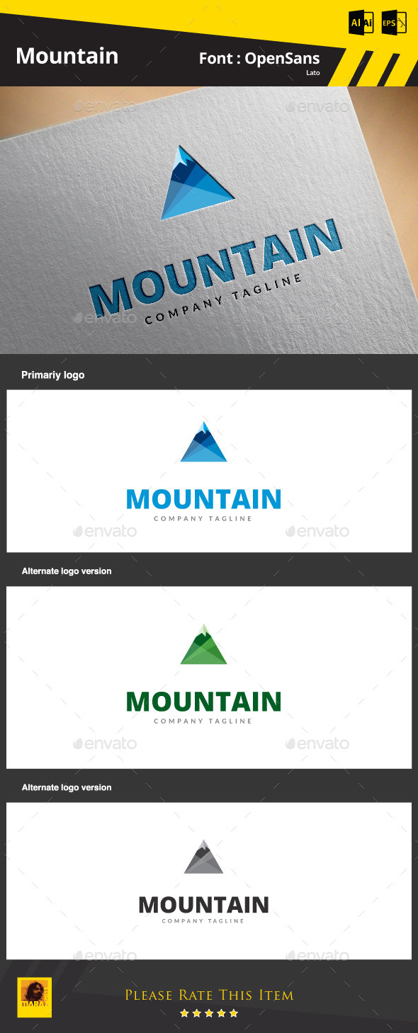 GraphicRiver Mountain Logo Template 9213584