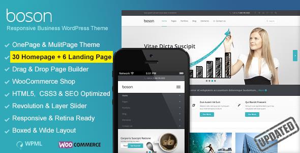 ThemeForest Boson Woocommerce WordPress Responsive Theme 8645496