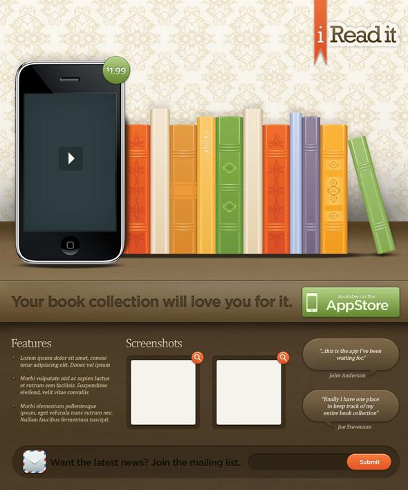TutsPlus Create an Illustrative iPhone iPad Landing Page 118657