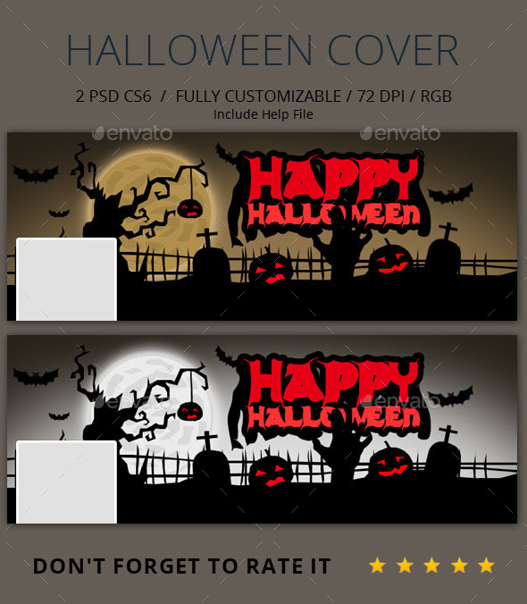 GraphicRiver Facebook halloween cover 9213825