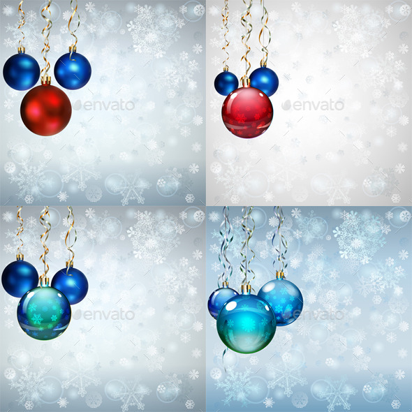 GraphicRiver Backgrounds with Christmas Balls 9214034