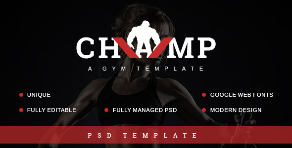 ThemeForest Champ gym fitness PSD theme 9154306
