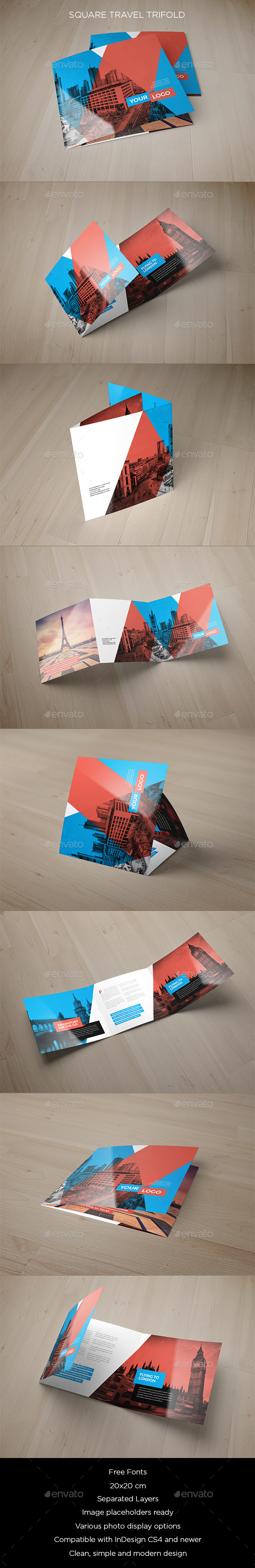 GraphicRiver Square Travel Trifold 9214045