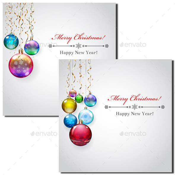 Backgrounds with Christmas Balls