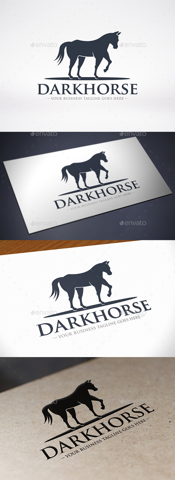 GraphicRiver Black Horse Logo Template 9214144