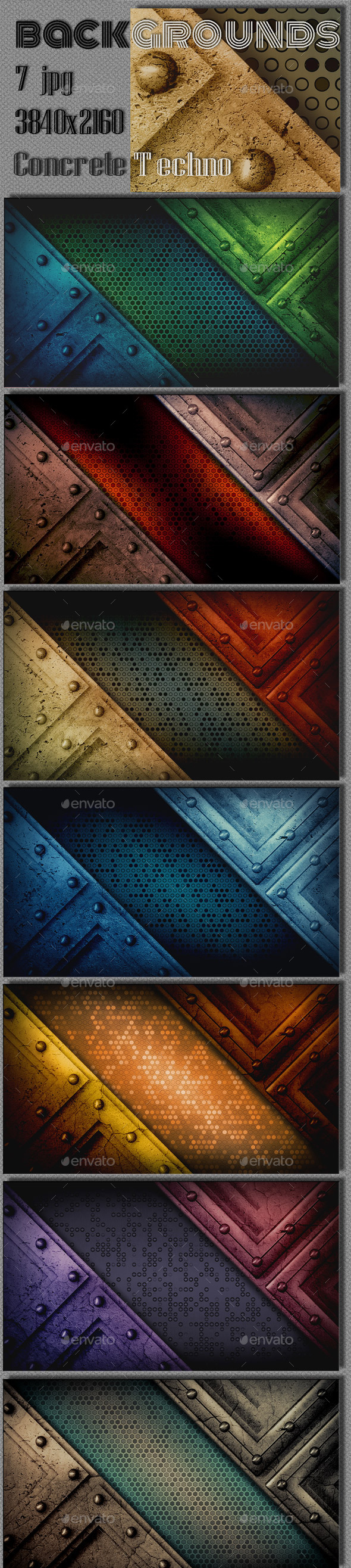 GraphicRiver Concrete Techno Wall Background 9214170