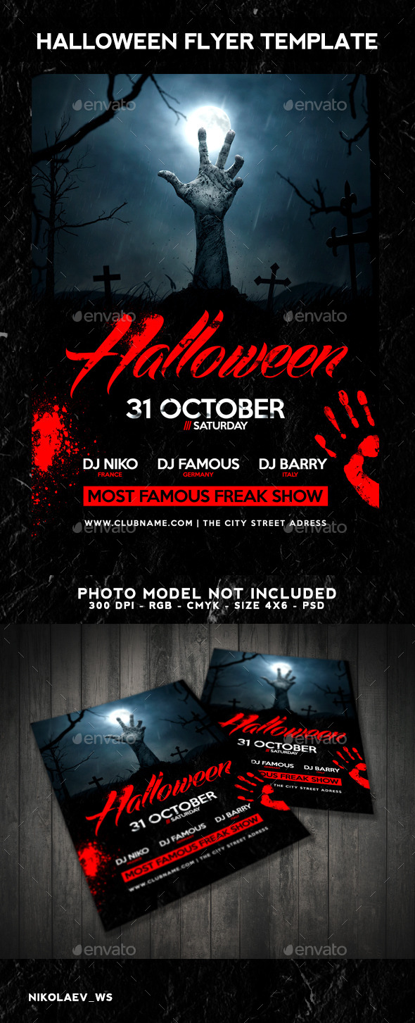 GraphicRiver Halloween Flyer 9214379